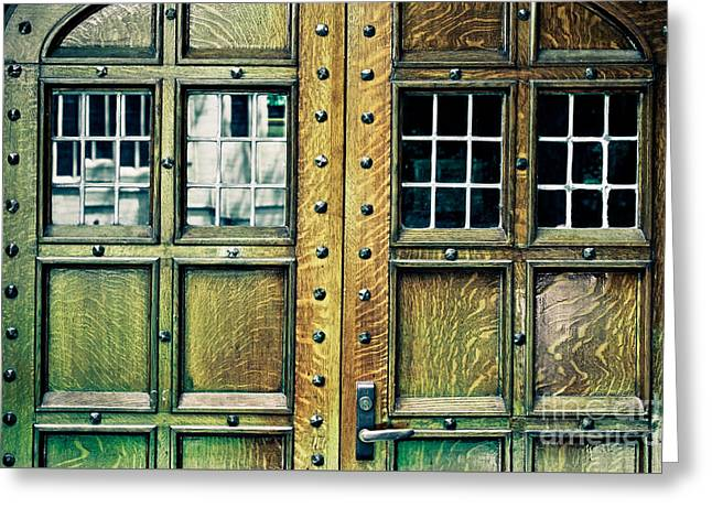 Medieval Entrance Greeting Cards - Medieval Doors Greeting Card by Colleen Kammerer