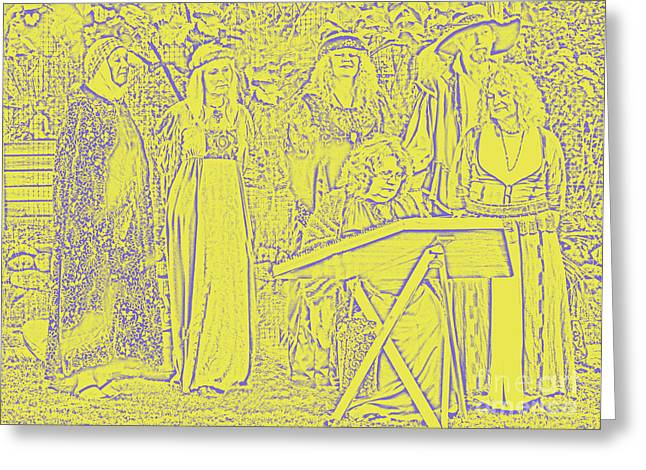 Third Estate Greeting Cards - Medieval Greeting Card by Graham Foulkes