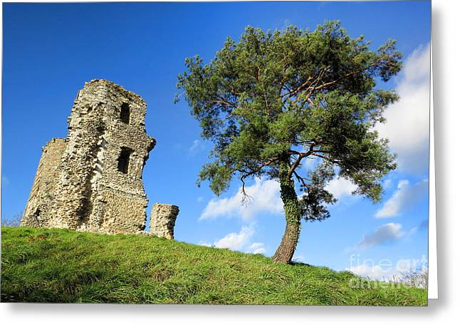 Medieval Hill Greeting Card by Olivier Le Queinec
