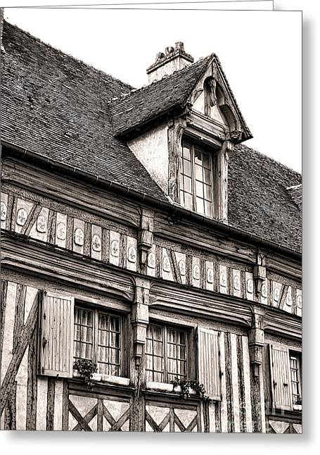 Charming Town Greeting Cards - Medieval House Greeting Card by Olivier Le Queinec