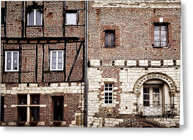 Red Buildings Photographs Greeting Cards - Medieval houses in Albi France Greeting Card by Elena Elisseeva