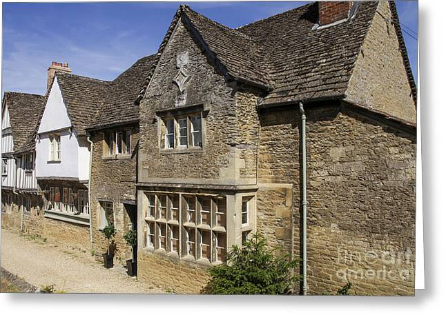 Medieval Houses In Lacock Village Greeting Card by Patricia Hofmeester