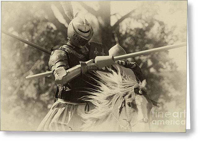 Knighthood Greeting Cards - Medieval Jousting Greeting Card by Bob Christopher