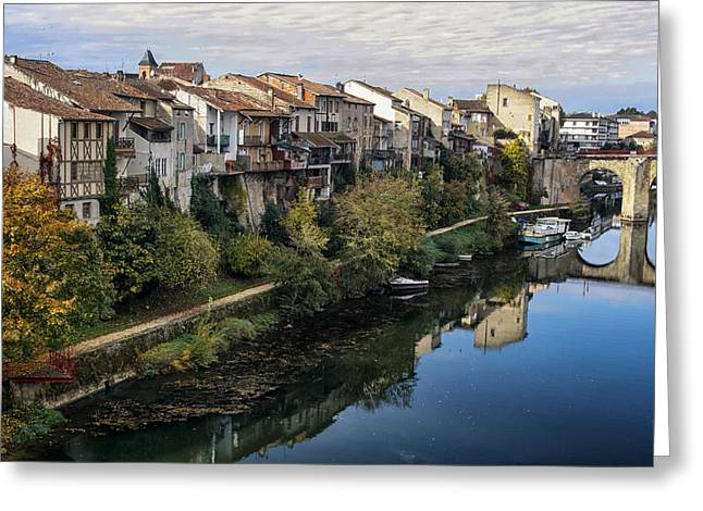 """south West France"" Greeting Cards - Medieval Musings Greeting Card by Nomad Art And  Design"