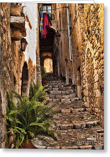 French Doors Greeting Cards - Medieval Saint Paul de Vence 2 Greeting Card by David Smith