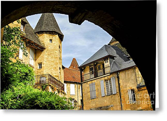 Dordogne Greeting Cards - Medieval Sarlat  Greeting Card by Elena Elisseeva