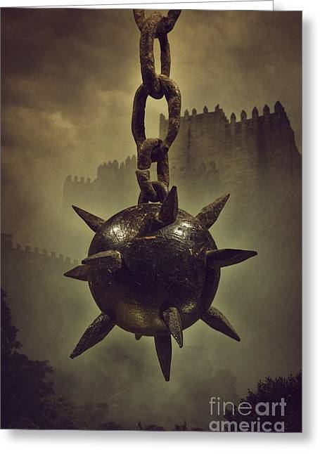 Medieval Spike Ball  Greeting Card by Carlos Caetano
