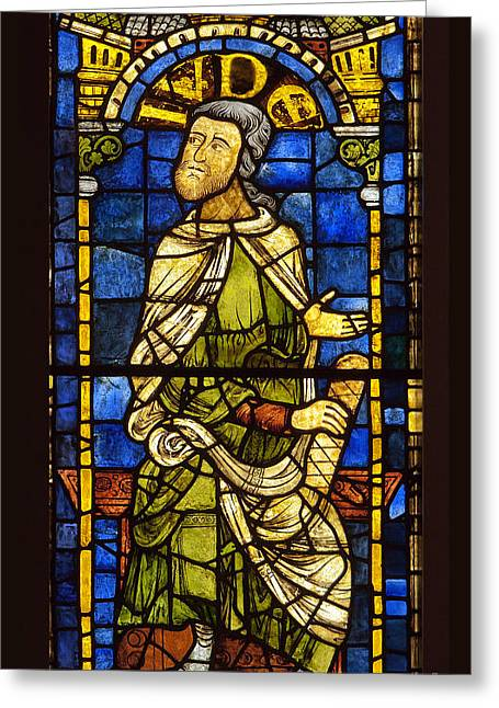 Medival Greeting Cards - Medieval Stained Glass II Greeting Card by John Gaffen