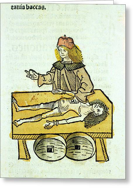 Medieval Surgery Greeting Card by National Library Of Medicine