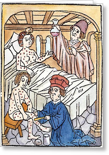 Salve Greeting Cards - Medieval Syphilis, 1497 Greeting Card by Granger