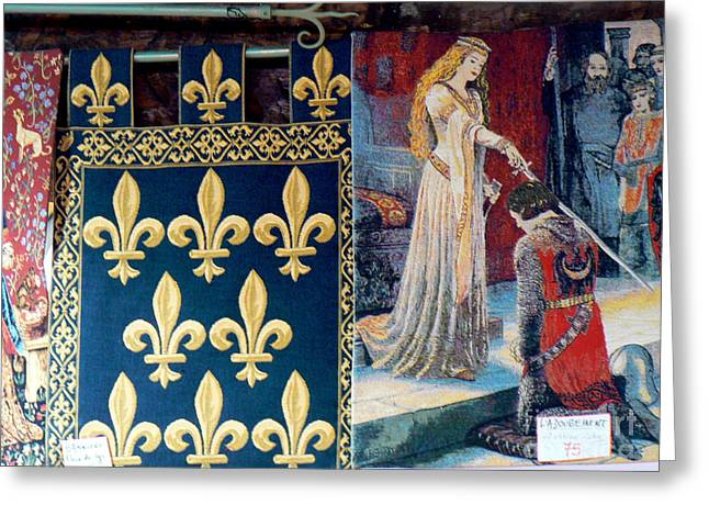 Medieval Tapestries Greeting Cards - Medieval Tapestry Greeting Card by France  Art