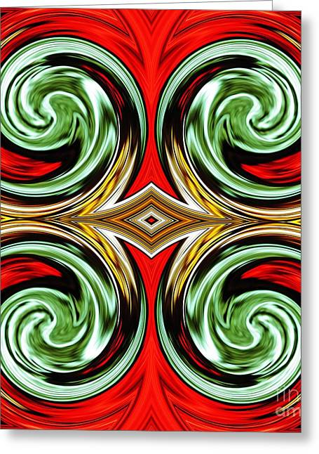 Stained Glass 3 Greeting Cards - Medieval Tile 3 Greeting Card by Sarah Loft