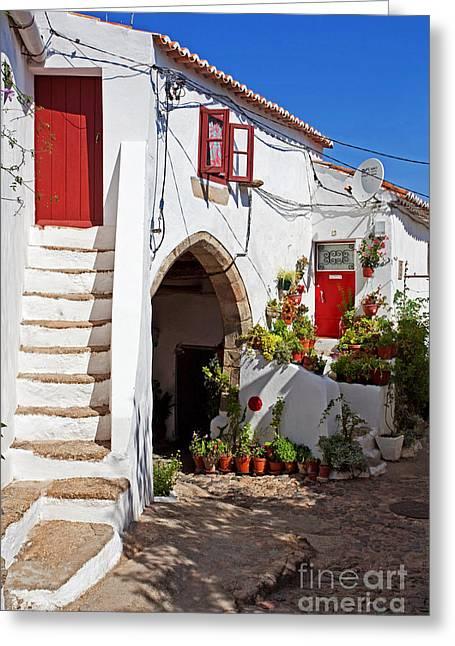 Medieval City Greeting Cards - Medieval Town-Hall of Castelo de Vide Greeting Card by Jose Elias - Sofia Pereira