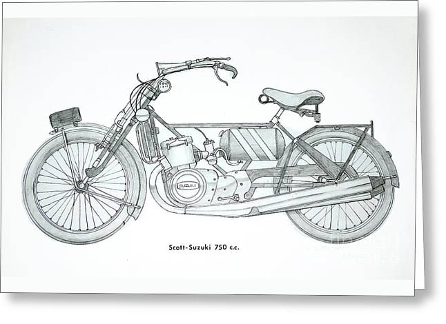 Medieval Two Stroke Greeting Card by Stephen Brooks