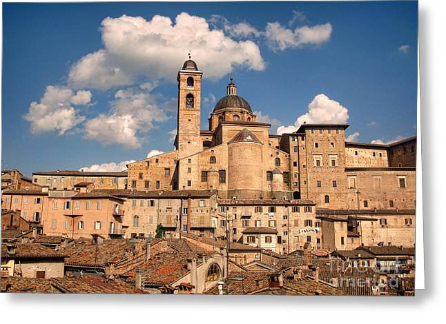 From The Dome Greeting Cards - Medieval Urbino.Italy Greeting Card by Jennie Breeze