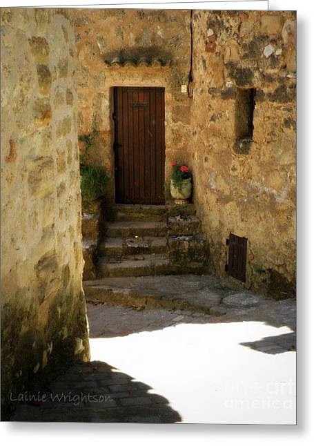 Lainie Wrightson Greeting Cards - Medieval Village Street Greeting Card by Lainie Wrightson
