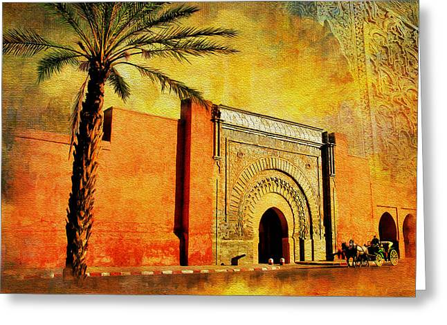 Rabat Greeting Cards - Medina of Marakkesh Greeting Card by Catf