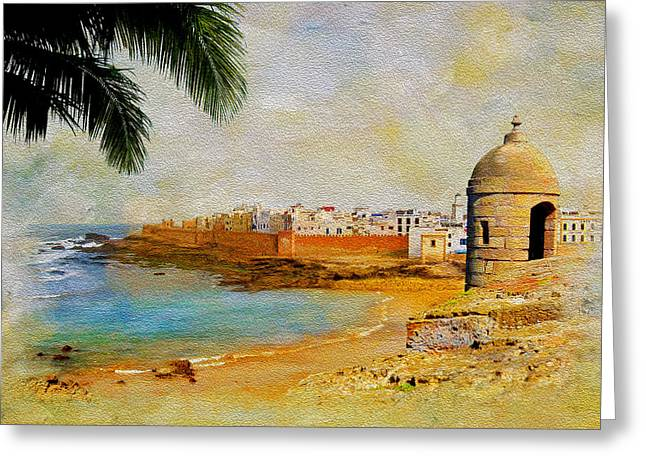 National Paintings Greeting Cards - Medina of Tetouan Greeting Card by Catf