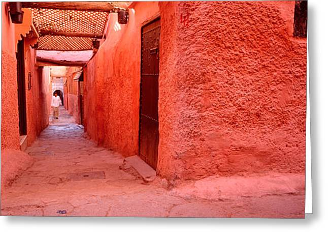 Enclosed Greeting Cards - Medina Old Town, Marrakech, Morocco Greeting Card by Panoramic Images