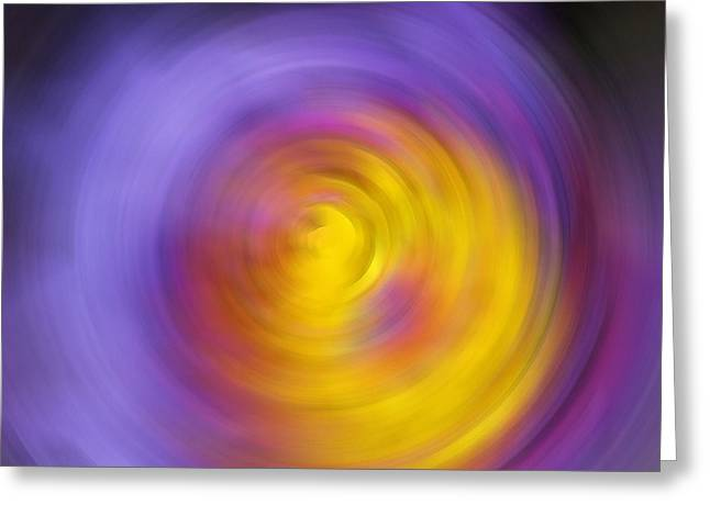 Purple Abstract Print Greeting Cards - Meditation - Abstract Energy Art By Sharon Cummings Greeting Card by Sharon Cummings