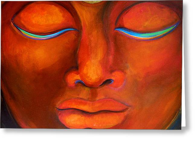 Inner Self Paintings Greeting Cards - Meditation Greeting Card by Arianna Ruffinengo