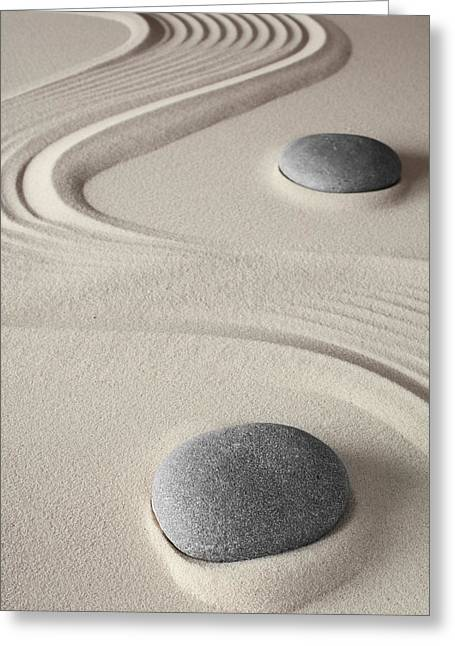 Concentration Greeting Cards - Meditation Background  Greeting Card by Dirk Ercken