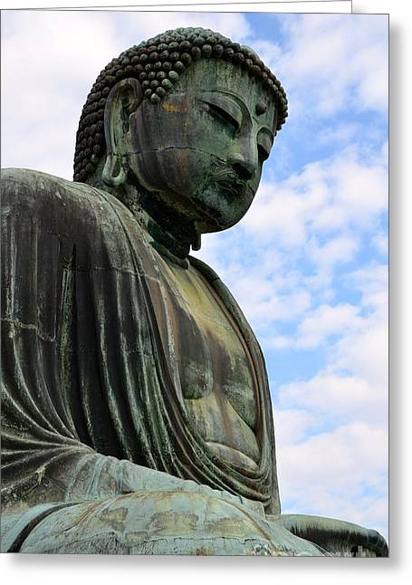 Kamakura Greeting Cards - Meditation Greeting Card by Corinne Rhode