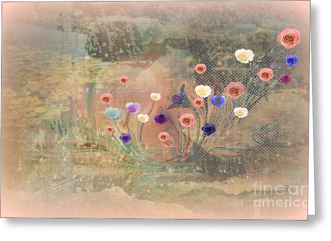 - Meditation Heal The World With  Art Love and Kindness Greeting Card by Sherri  Of Palm Springs