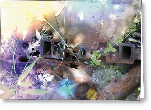 Car Part Greeting Cards - Meditation In Sunlight 48 Greeting Card by The Art of Marsha Charlebois