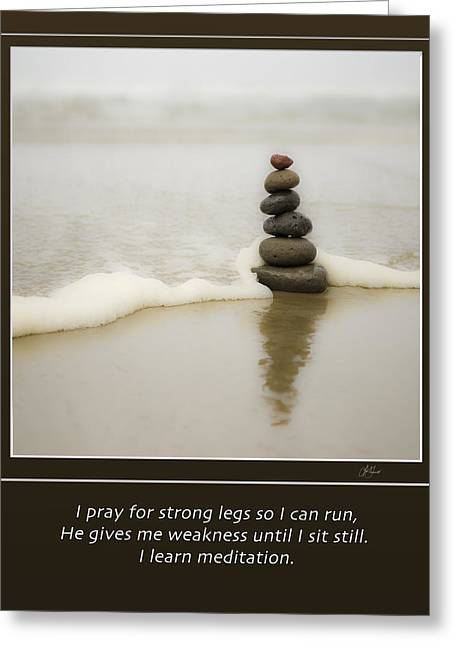 I Ask Greeting Cards - Meditation Greeting Card by Lori Grimmett