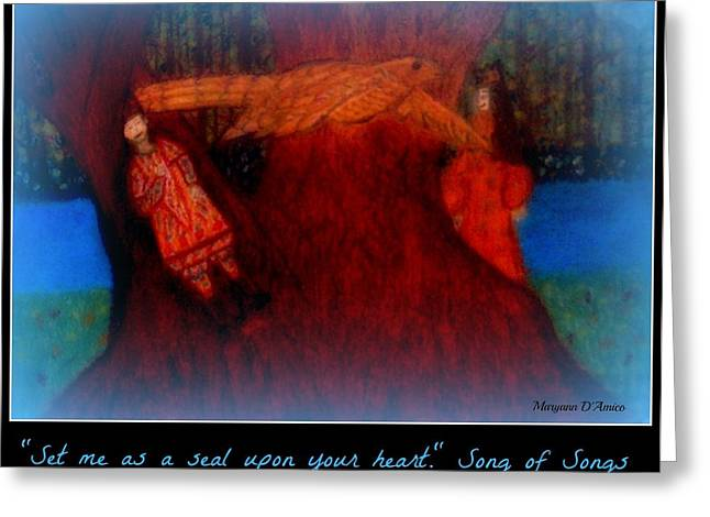 Religious Pastels Greeting Cards - Meditation Number 3 Song of Songs Greeting Card by Maryann  DAmico