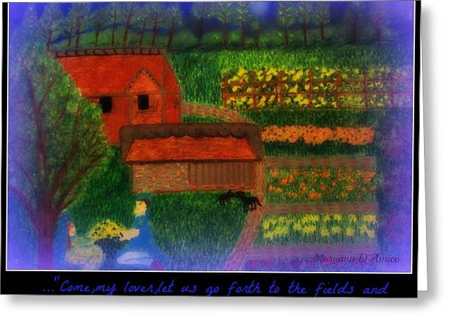 Meditation Number 4 Song of Songs Greeting Card by Maryann  DAmico