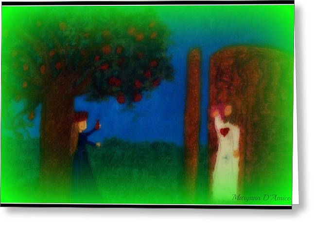 Jesus Pastels Greeting Cards - Meditation Number 7 on the Song of Songs Greeting Card by Maryann  DAmico