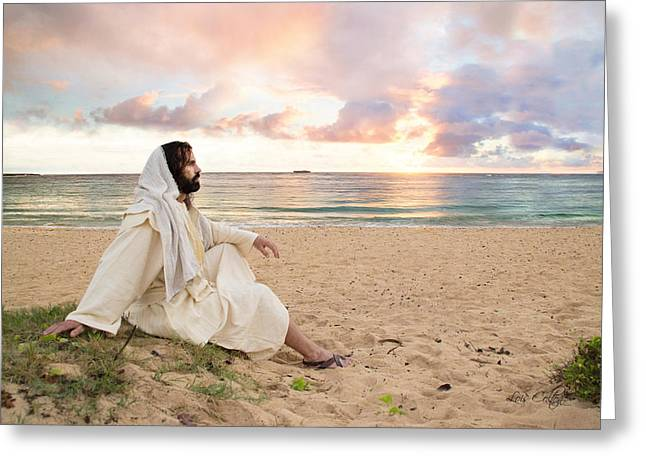 Testament Greeting Cards - Meditation of Christ Greeting Card by Lois Colton