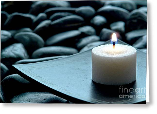 Candles Greeting Cards - Meditation  Greeting Card by Olivier Le Queinec