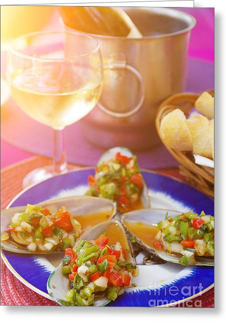 Appetizer Greeting Cards - Mediterranean Appetizer Greeting Card by Carlos Caetano