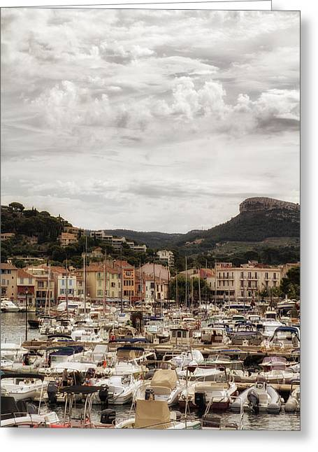 Provence Village Greeting Cards - Mediterranean Coastal Town of Cassis Greeting Card by Nomad Art And  Design