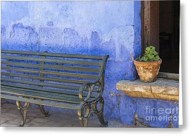 Southern France Greeting Cards - Mediterranean exterior Greeting Card by Patricia Hofmeester