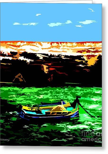 Fishing Art Cards Greeting Cards - Mediterranean Malta Greeting Card by Patrick J Murphy