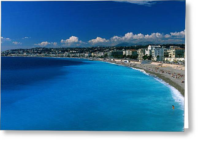 Sunbathing Photographs Greeting Cards - Mediterranean Sea French Riviera Nice Greeting Card by Panoramic Images
