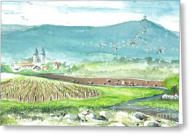 Saint Hope Greeting Cards - Medjugorje Fields Greeting Card by Christina Verdgeline