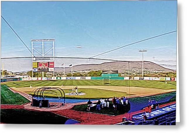 Baseball Stadiums Greeting Cards - Medlar Field at Lubrano Park Greeting Card by Tom Gari Gallery-Three-Photography