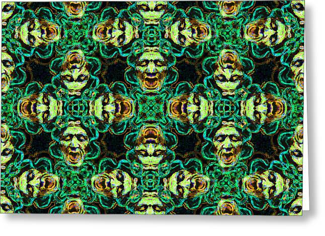 Medusa Digital Greeting Cards - Medusa Abstract 20130131p38 Greeting Card by Wingsdomain Art and Photography