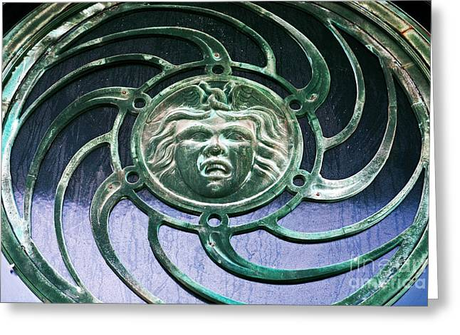 Medusa Window Greeting Cards - Medusa at Asbury Park  Greeting Card by John Rizzuto