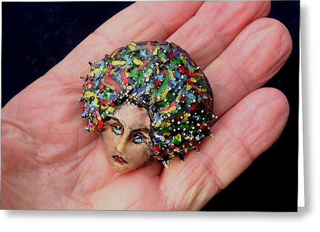 Colorful Jewelry Greeting Cards - Medusa Cameo I Greeting Card by Roger Swezey