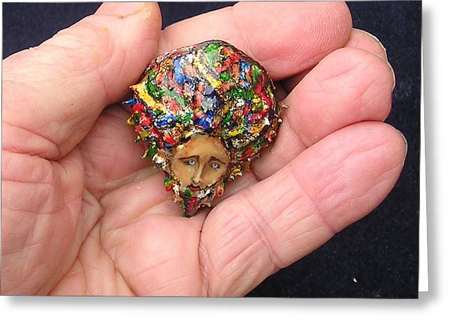 Colorful Jewelry Greeting Cards - Medusa Cameo II Greeting Card by Roger Swezey