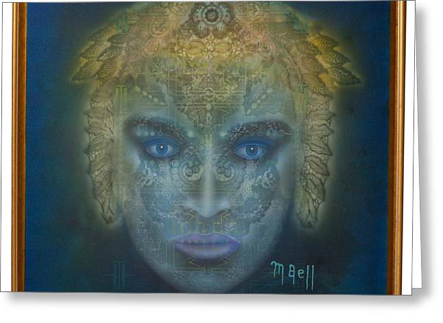 Medusa Mixed Media Greeting Cards - Medusa - Framed Greeting Card by Mark Bell