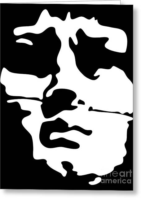Duo Tone Greeting Cards - Medusa relief Greeting Card by Peut Etre