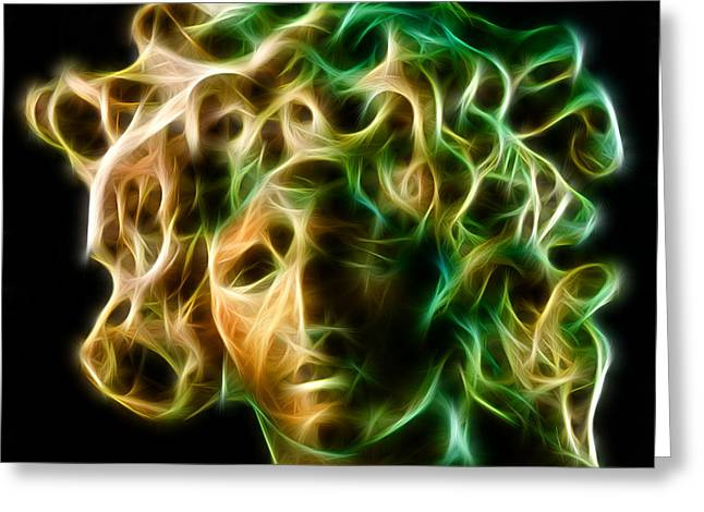 Mystic Sky Art Greeting Cards - Medusa Greeting Card by Taylan Soyturk