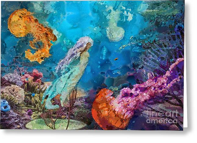 Medusa Greeting Cards - Medusas Garden Greeting Card by Mo T